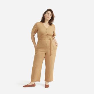 Everlane The Linen Short-Sleeve Jumpsuit