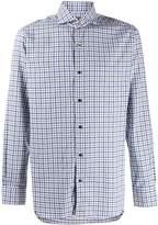 Barba long-sleeved check shirt