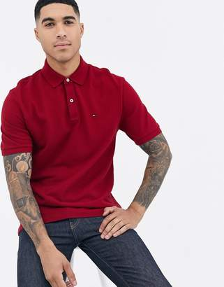 Tommy Hilfiger ivy custom fit polo shirt in red