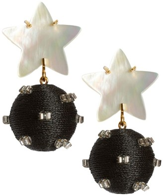 Lizzie Fortunato Goldplated Mother-Of-Pearl Star Bead Drop Earrings