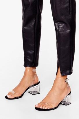 Nasty Gal Womens Clear the Air Low Heel - Black