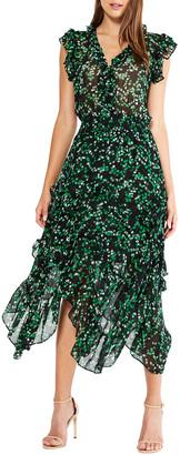 Dakota MISA Los Angeles Floral-Print Handkerchief Dress