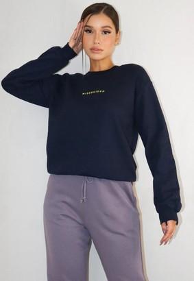 Missguided Navy Sweatshirt