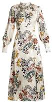Erdem Orlena high-neck floral-print silk dress