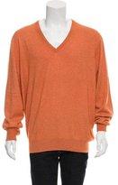 Loro Piana Cashmere & Silk Blend V-Neck Sweater