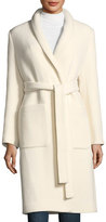 Halston Boiled Wool Car Coat