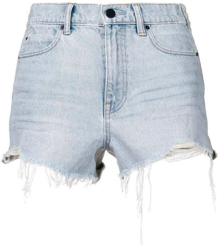 Alexander Wang frayed denim shorts