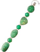 Stephen Dweck Green Turquoise & Chrysoprase Station Bracelet