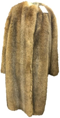 Givenchy Camel Faux fur Coat for Women
