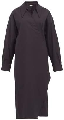 Lemaire Cotton Midi Shirt Dress - Womens - Black