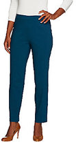 As Is Susan Graver Ultra Stretch Comfort Waist Pull-On Ankle Pants
