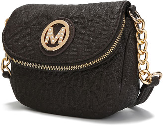 MKF Collection by Mia K. Women's Crossbodies - Charcoal Logo Crossbody Bag