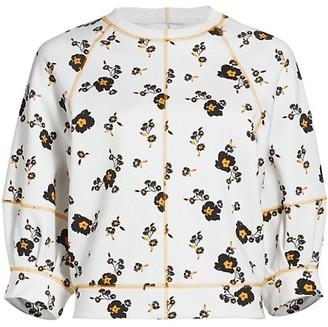Tanya Taylor Josephine Floral Sweatshirt