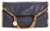 Stella McCartney 'Falabella' Faux Leather Foldover Tote - Blue