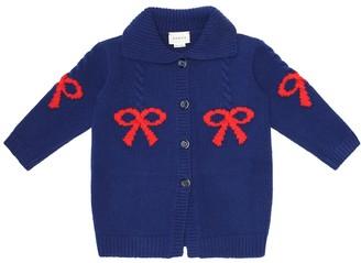 Gucci Kids Baby jacquard wool cardigan
