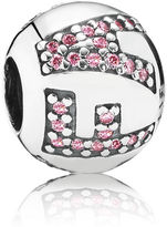Pandora Sparkling Faith Charm - Sterling Silver / Pink