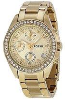 Fossil Women's Ladies Decker-ES2683 Gold-Tone Stainless Steel/Glitz/Gold Watch