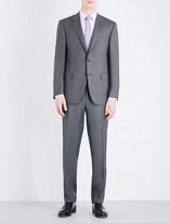 Canali Micro-geometric pattern regular-fit wool suit