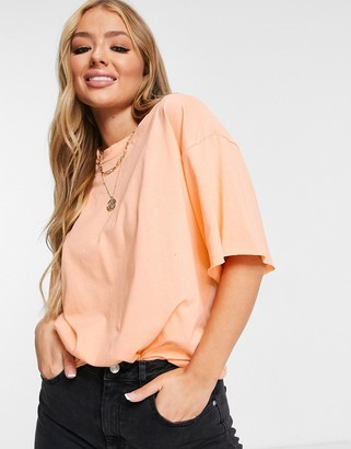 ASOS DESIGN tonal co-ord boxy oversized t-shirt in apricot