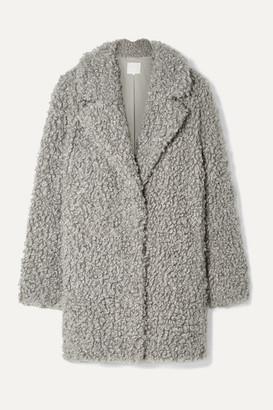 Tibi Faux Shearling Coat - Gray