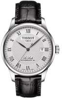 Tissot Le Locle Sapphire Crystal Leather Band Watch