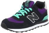 New Balance Women's WL574 Neon Fashion Sneaker