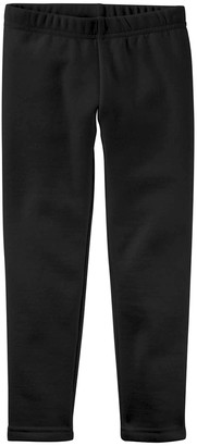 Emma & Elsa Girls' Leggings - Black Fleece-Lined Leggings - Toddler