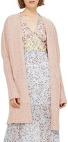 Topshop Women's Puff Sleeve Longline Cardigan