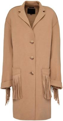 R 13 Fringed Wool Coat