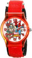 Marvel Kids' W001732 Spider-Man Analog Display Analog Quartz Red Watch