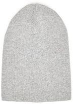 River Island MensGrey slouchy beanie hat