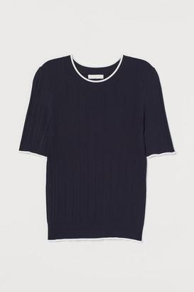 H&M Ribbed Viscose-blend Top
