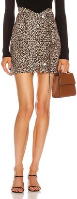Marissa Webb Brooke Lightweight Canvas Print Skirt in Sandshell Leopard | FWRD