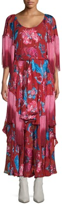 Romance Was Born Xandadu Floral Fringe Maxi Dress