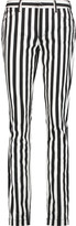 Dolce & Gabbana Striped mid-rise slim-leg jeans