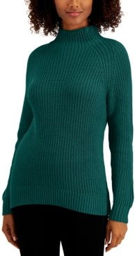 Style&Co. Style & Co Petite Cotton Funnel-Neck Sweater, Created for Macy's