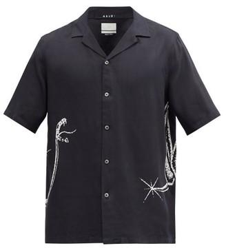 Ksubi Snake-print Twill Shirt - Black