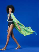 Diane von Furstenberg Short-Sleeve Tie Front Tunic Dress