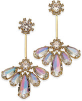 Kate Spade Gold-Tone Irridescent Crystal Drop Earrings