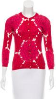 Tory Burch Knit Floral Print Cardigan