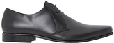 Bertie Police Leather Derby Shoes, Black