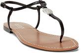 Ralph Lauren Aimon Croc-Embossed Sandal