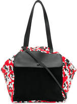 Carmina Campus floral colour-block tote