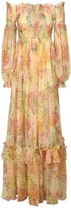 Dundas Off-The-Shoulder Silk & Lurex Dress