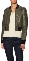 Nicole Leather Bomber Jacket