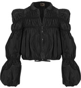 Giambattista Valli Ruched Taffeta Jacket - Black