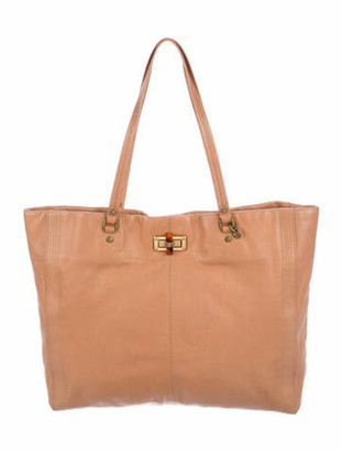 Lanvin Leather Tote Bag Gold