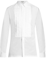 Balenciaga French-cuff pleated dinner shirt