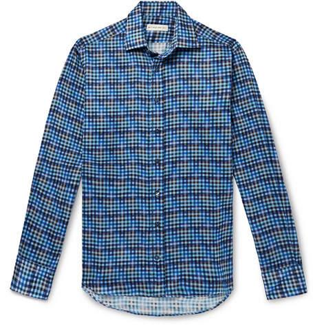 Etro Slim-Fit Checked Cotton Shirt
