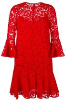 Valentino ruffled guipure lace mini dress - women - Silk/Cotton/Polyamide/Viscose - 42